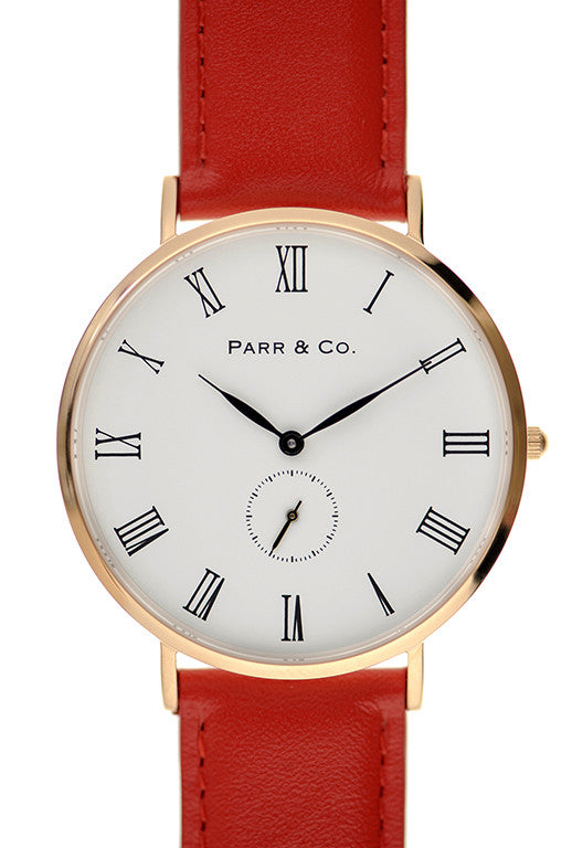 Rose Gold & Red Leather | Parr & Co.
