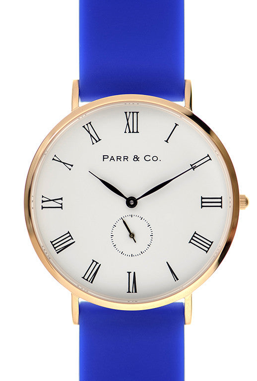 Rose Gold & Blue Silicone | Parr & Co.