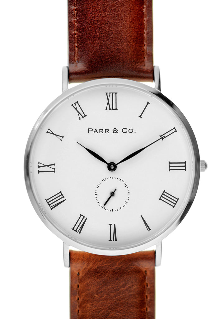 Silver & Brown Leather | Parr & Co.