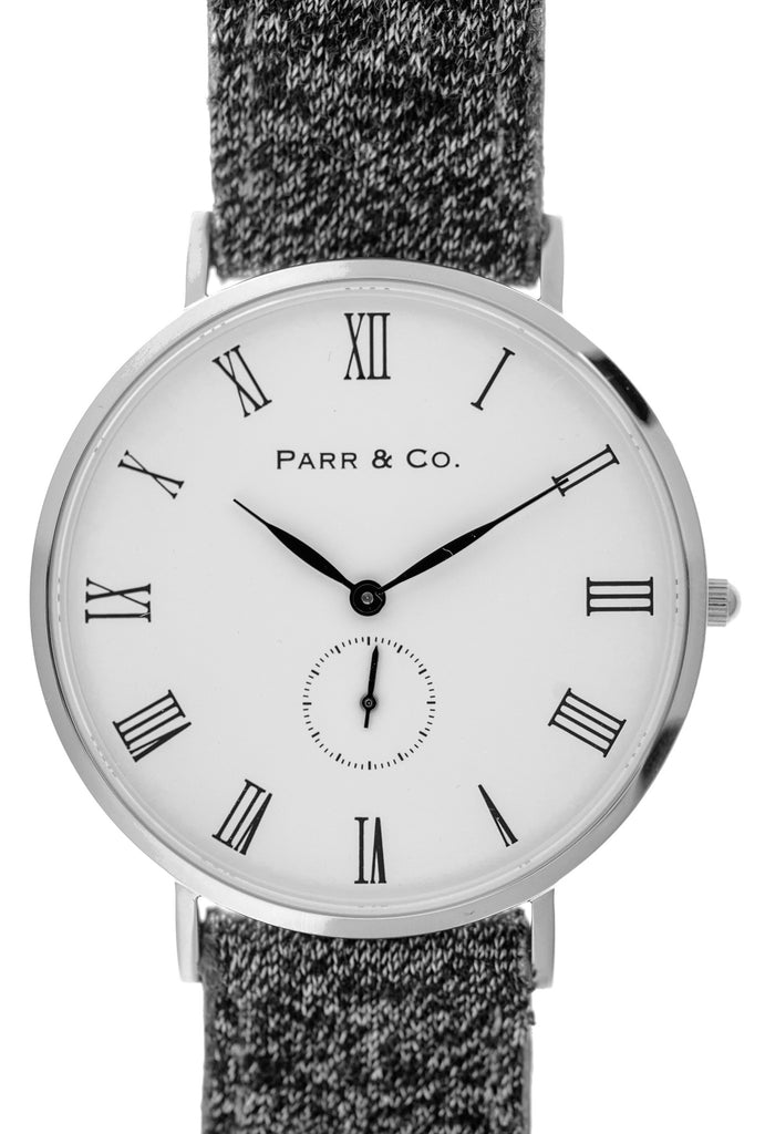 Silver & Gray Herringbone | Parr & Co.
