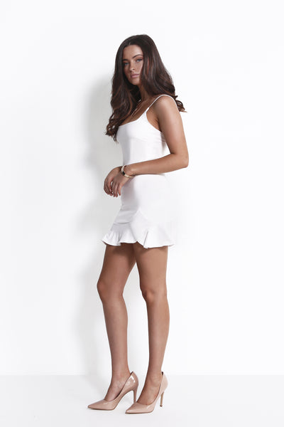 GET TO YOUR HEART DRESS WHITE