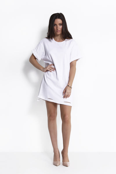 MAYSA T-SHIRT DRESS WHITE