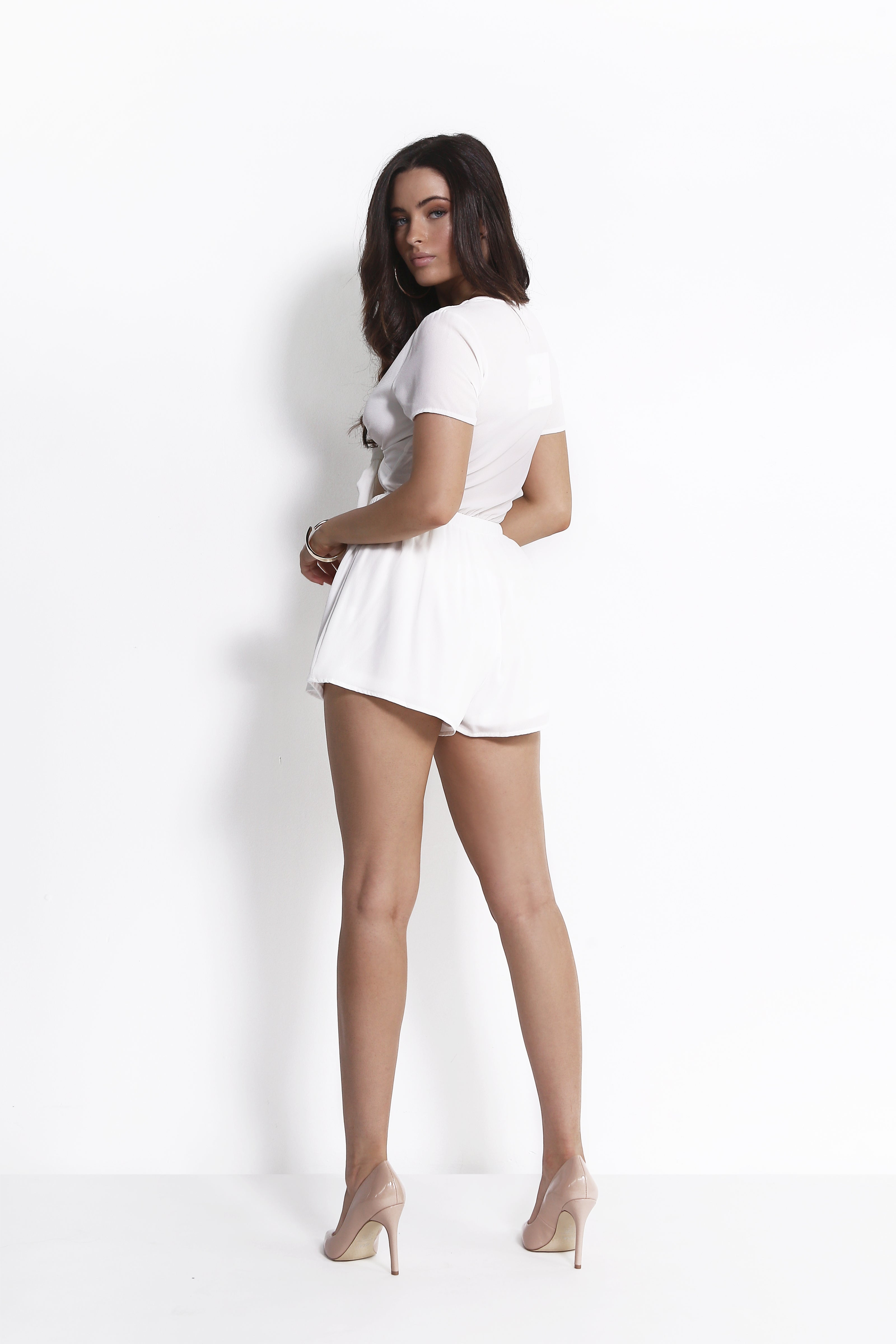 FIELD TRIP PLAYSUIT WHITE