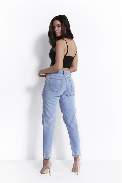 BAD BOY BOYFRIEND JEANS LIGHT BLUE