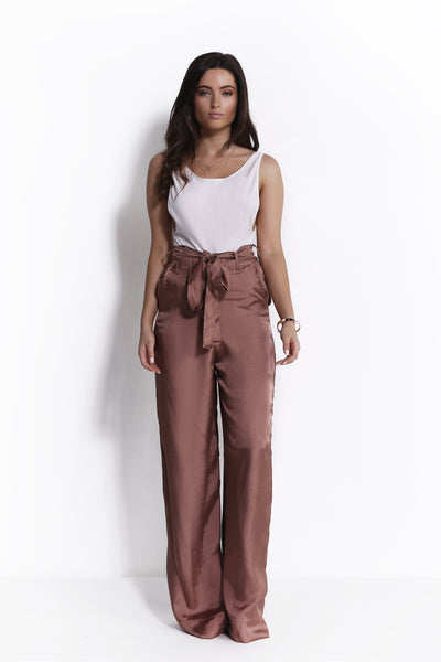 CHELSEA BRONZE WIDE LEG PANTS