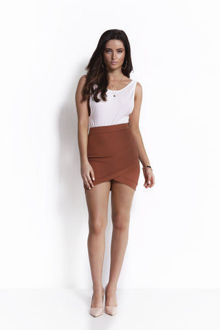 HOLD YOU TIGHT SKIRT BROWN