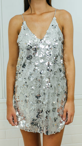 DANCE WITH ME DRESS SILVER