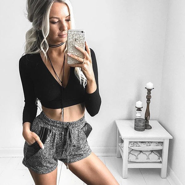 ELYSE CROP TOP BLACK