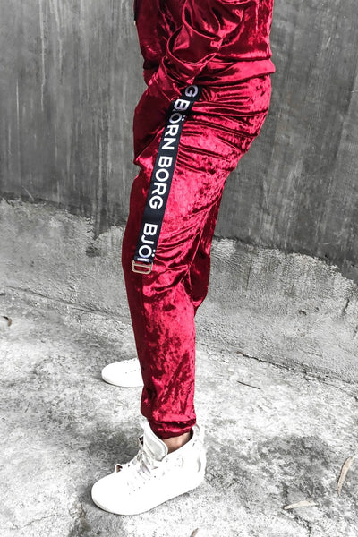 RED VELVET SWEATPANTS