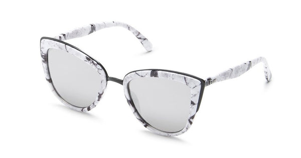 MY GIRL SUNGLASSES WHITE MARBLE/SILVER