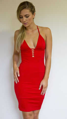 ANDREA MIDI DRESS IN RED