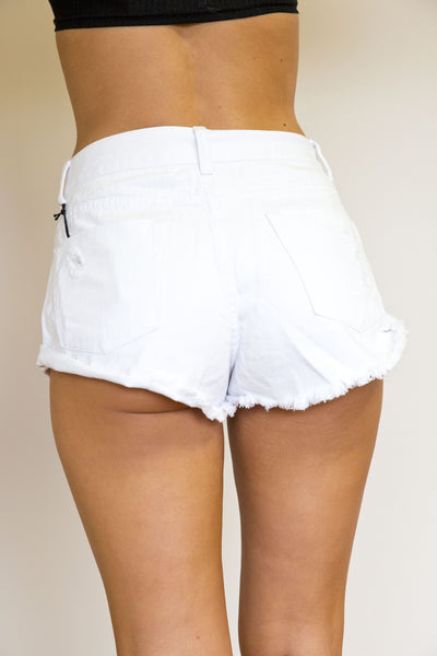 FUNDAY DENIM SHORTS IN WHITE