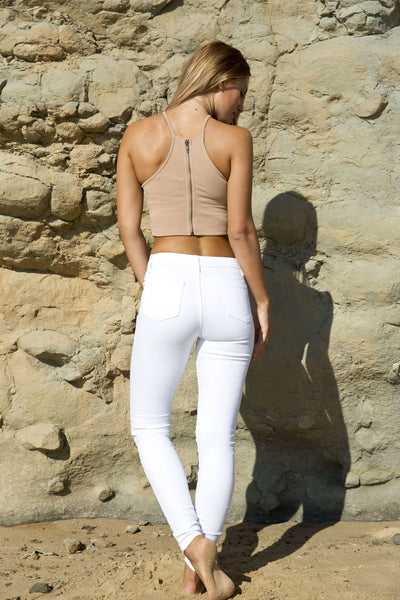 MEADOW CROP TOP TAN