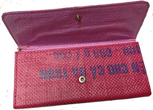 Recycled Rice Bag Slim Wallet