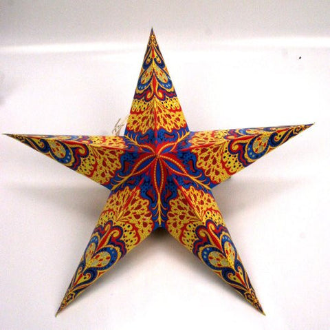 Handmade Carnival Paper Star 5 Point Lantern
