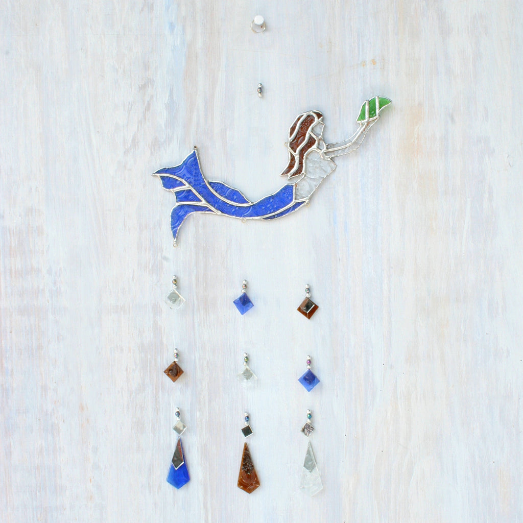 Mosaic Mermaid Wind Chime