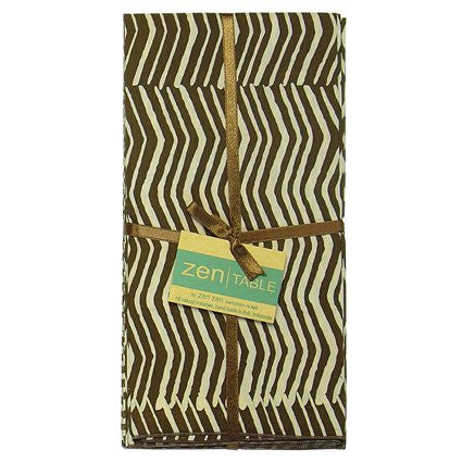 Fair Trade Cotton Table Napkins from Bali - Set of 4 Mudcloth Brown