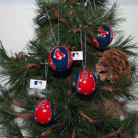 "Baseball Ornament ""Red Sox"""