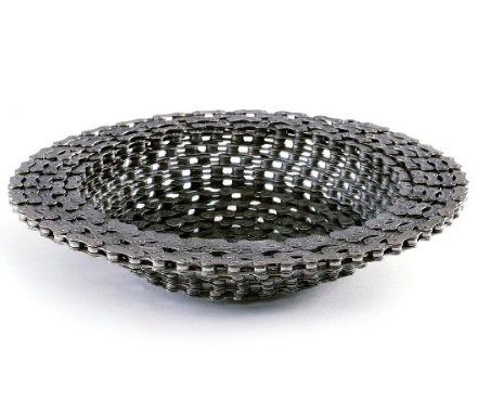 Recycled Bike Chain Bowl
