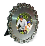 Bike Chain Desk Picture Frame