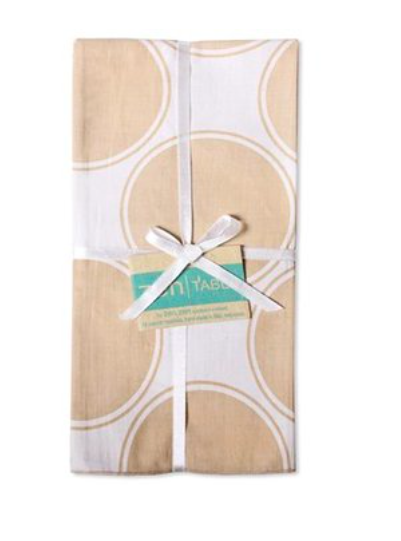 Fair Trade Cotton Table Napkins from Bali  - Set of 4 Ibiza Natural