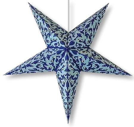 Handmade Tribal Print 5 Point Paper Star Lantern