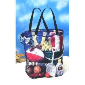 Carry All Mesh Beach Bag With Drawstring