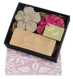 Flower Pumice, Brush and Soap Boxed Set