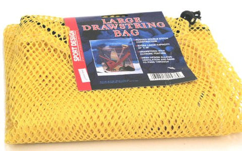 Extra Large Beach Mesh Carry All Drawstring Bag