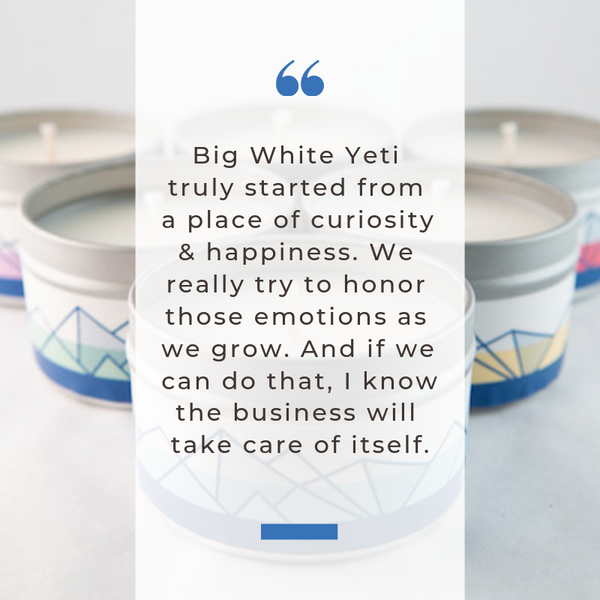 Big White Yeti Katie Weiss Quote