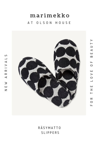 Marimekko Räsymatto Slippers for sale at Olson House