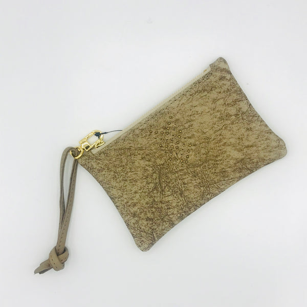Permanent Baggage Leather Wristlet