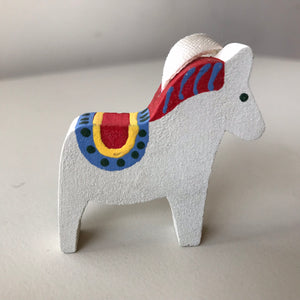 Small Painted Dala Horse Ornament