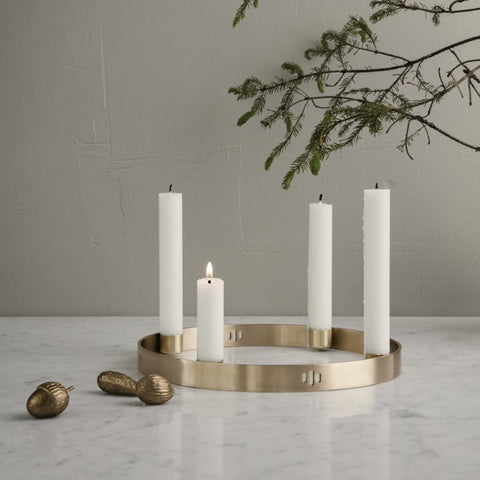 Ferm Living Brass Candle Holder Circle - Small