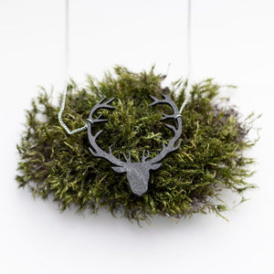 Valona Finnish Birch Reindeer Necklace