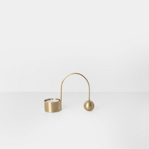 Balance Brass Tealight Holder