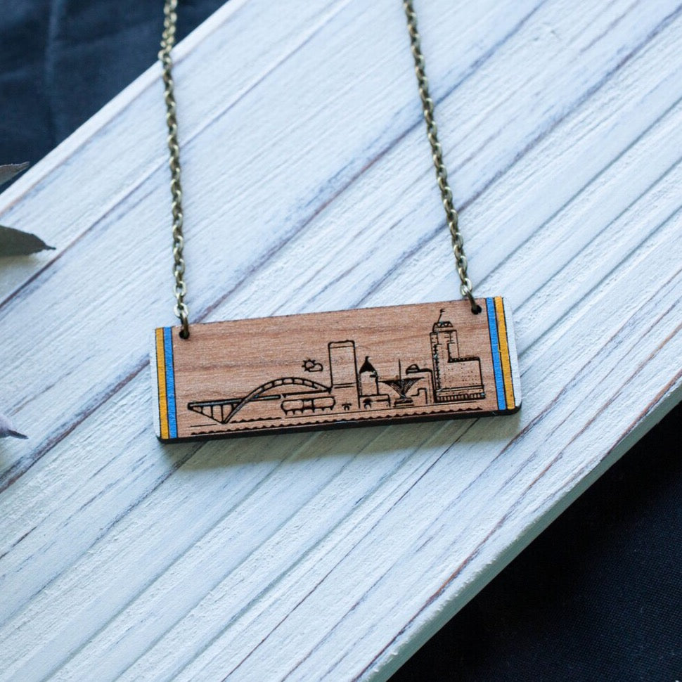 Simplisticreations New Milwaukee Skyline Necklace