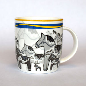 Bergquist Swedish Dala Horse Mug