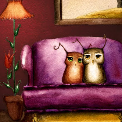 Maggie Hurley Art Prints - Herbert the Owl