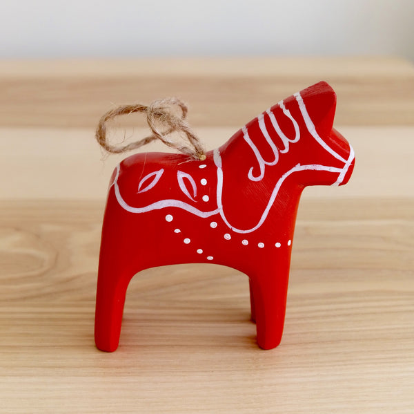 Wooden Dala Horse Ornaments