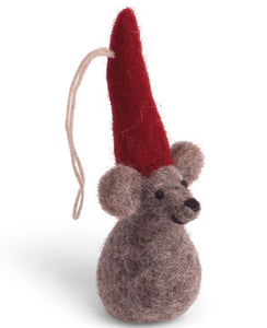 Én Gry & Sif Felt Christmas Mouse Ornament