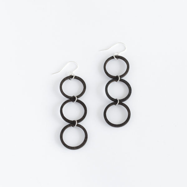 Valona Finnish Birch Luna 3 Earrings