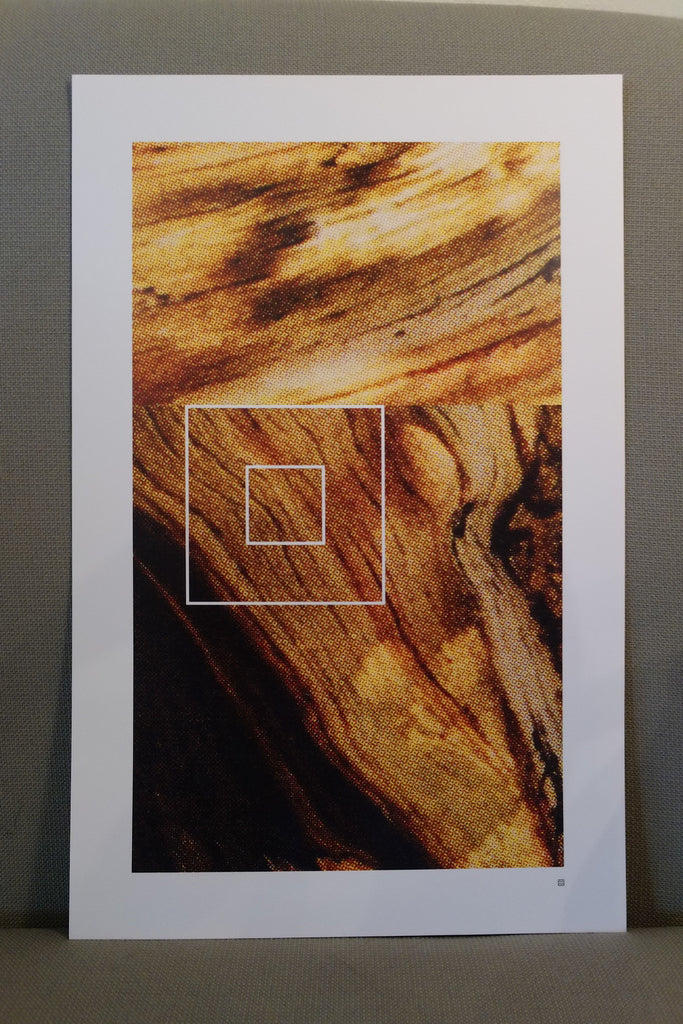 Ambient Temperatures Wood 2 Print - unframed