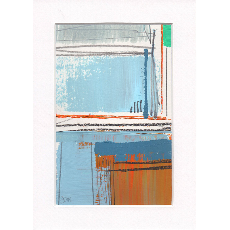 Dave Watkins Abstract Studies - 4x6 Framed