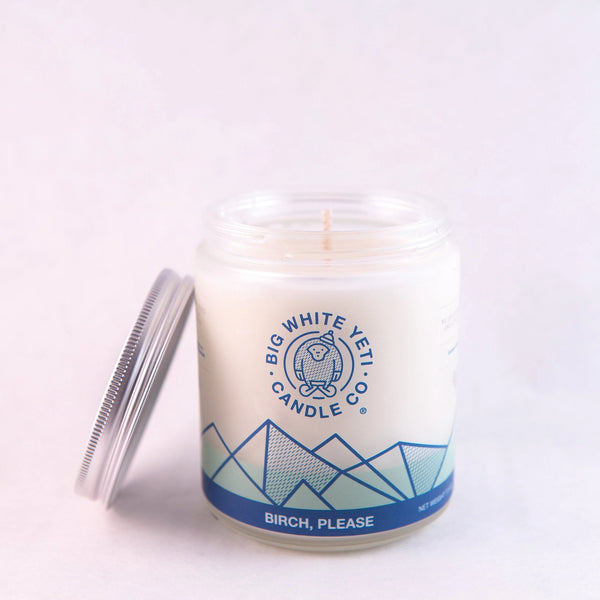 Big White Yeti Candles - Frosted Jars