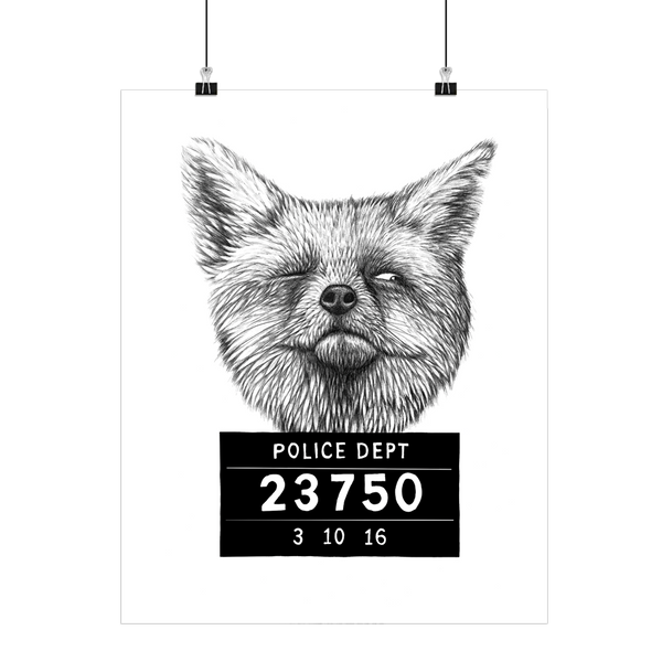 Boas Grafik Ræv (Busted Fox) Art Print