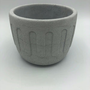 Intentional Grain Arched Round Concrete Planter