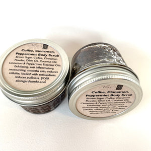 Alice's Garden Coffee Cinnamon, Peppermint Body Scrub