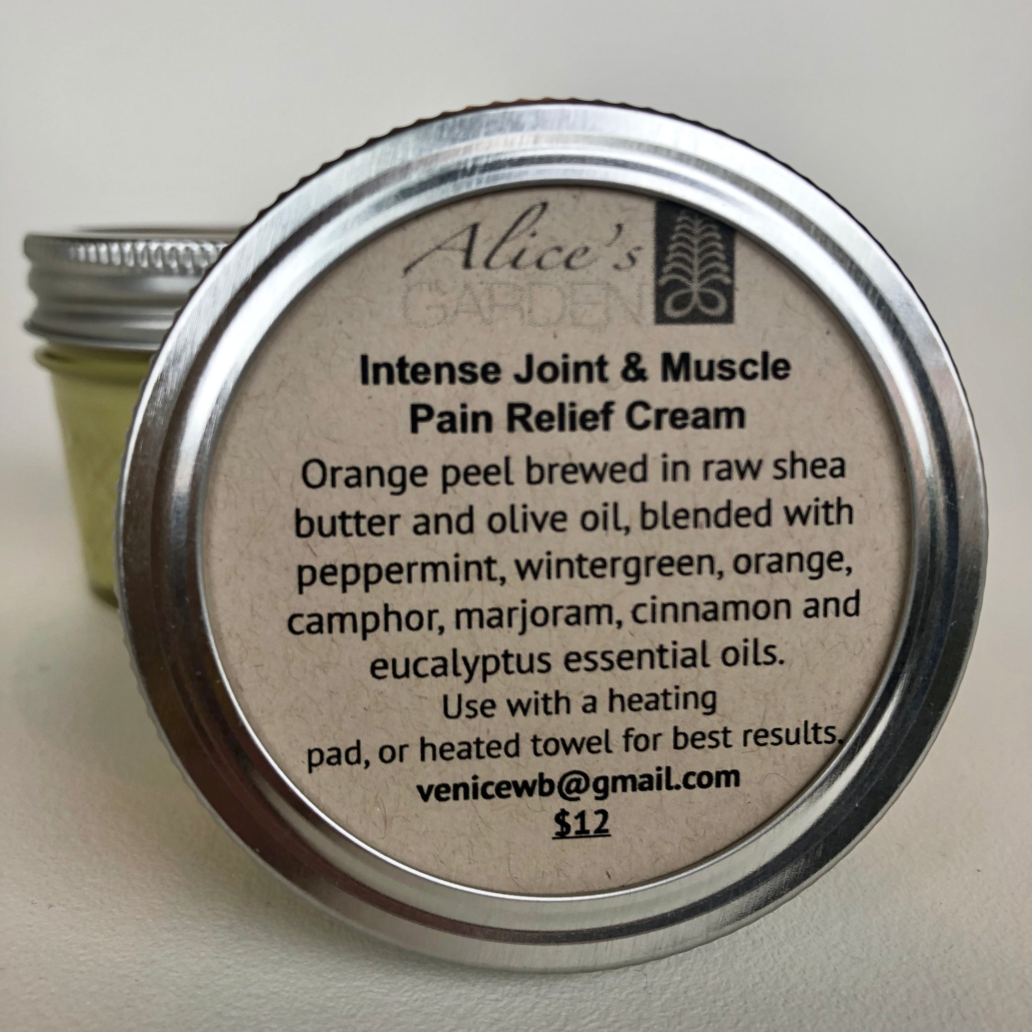 Alice's Garden Intense Joint & Muscle Pain Relief Cream