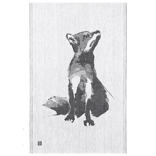 Teemu Järvi Illustrations linen/cotton kitchen towel, White/Black